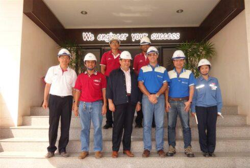 DARAMIC (THAILAND) LTD. เข้าเยี่ยม บริษัท เวสท์โคสท์ เอ็นจิเนียริ่ง จำกัด เมื่อวันที่ 18 มีนาคม 2559